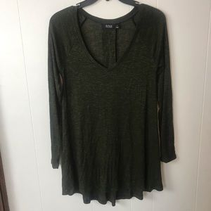 Ana Olive long sleeve v neck